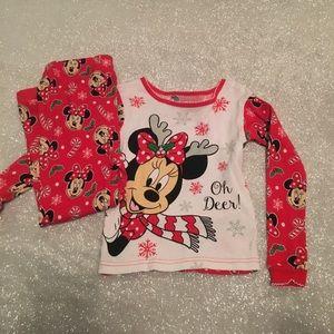 Disney 5T 2 piece Girls Minnie Mouse Pajamas Set
